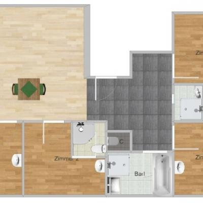 2 WG Zimmer in 150m² Wohnung frei - thumb
