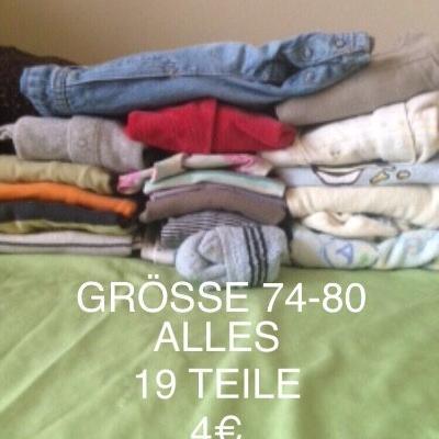 BABY BEKLEIDUNGSPAKET GRÖSSE 74-92 -4€ 19 TEILE - thumb
