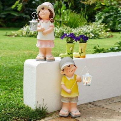 Deko Figuren mit Laterne ca.20x20x52cm Neu - thumb