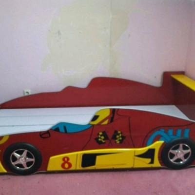 Kinderbett Rennauto plus Schrank - thumb