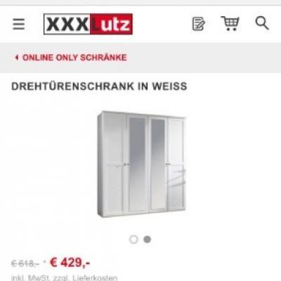 Drehtürenschrank in Weiß XXXLUTZ Blogger Spiegel - thumb