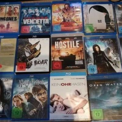 Filmkonvolut Bluray und DVD Filme - thumb