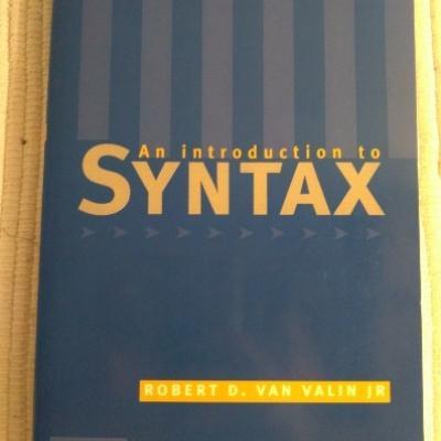 An introduction to syntax - R D van Valin Jr (20€) - thumb