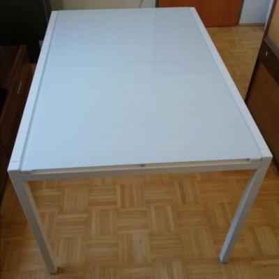 Tisch mit Glasplatte ausziehbar / € 80,- - thumb