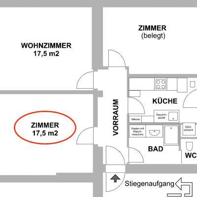 WG-Zimmer in zentraler 70 m²-Wohnung zu vermieten - thumb