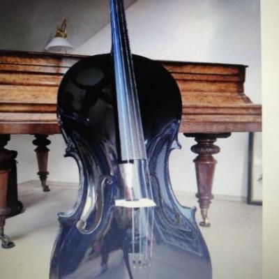 Schwarz lackiertes Cello NEU - thumb