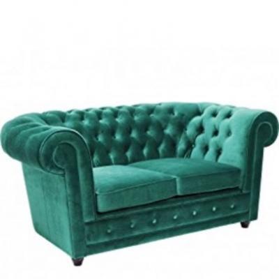 Le Chic Oxford KARE Design Sofa, 2 Sitzer, Grün - thumb