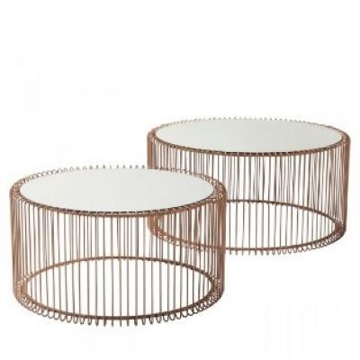 Eleganz Couchtisch - Set, Wire Cooper in Kupfer - thumb