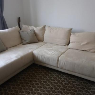 Wunderschöne beige Couch - thumb