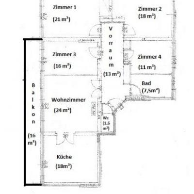Ein Zimmer in 4er Penthaus WG  (St. Martin) - thumb