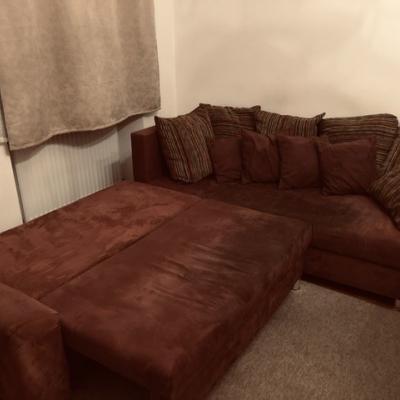 Sofa mit Bettfunktion / Stauraum 240 x 200 zu vers - thumb
