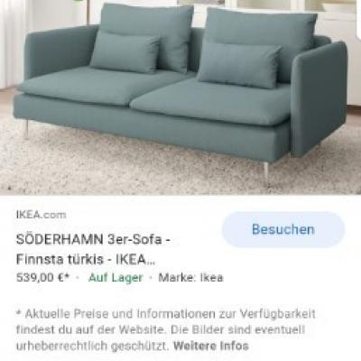 Modernes Sofa für bis zu 2-3 Personen - thumb