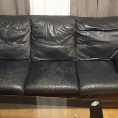 Kunstleder- Couch 3er Sitz zu verschenken - thumb
