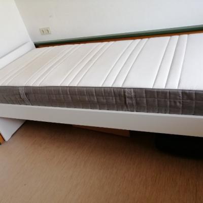 Ikea Bett 90x200 mit Matratze, 100€ - thumb