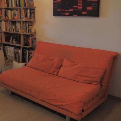 SCHLAFSOFA: ligne roset MULTY 3er in knalligem orange - thumb