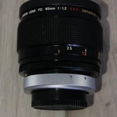 Canon Lens FD 85mm 1:1.2 S.S.C. ASPHERICAL MINT - thumb