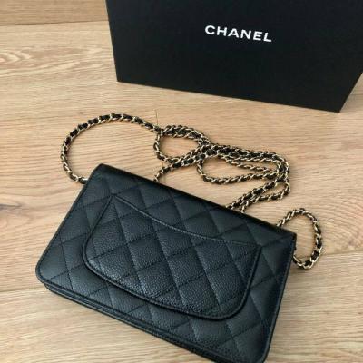 Chanel kleine Tasche schwarzes Leder - thumb
