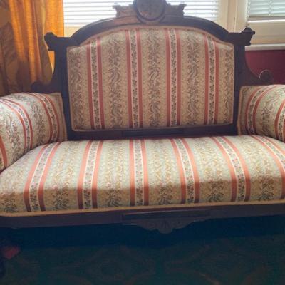 Biedermeier Sofa mit Stuhl - thumb