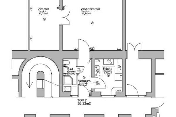 helle zentralgelegene 2-Zimmerwohnung