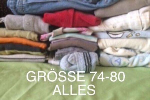 BABY BEKLEIDUNGSPAKET GRÖSSE 74-92 -4€ 19 TEILE