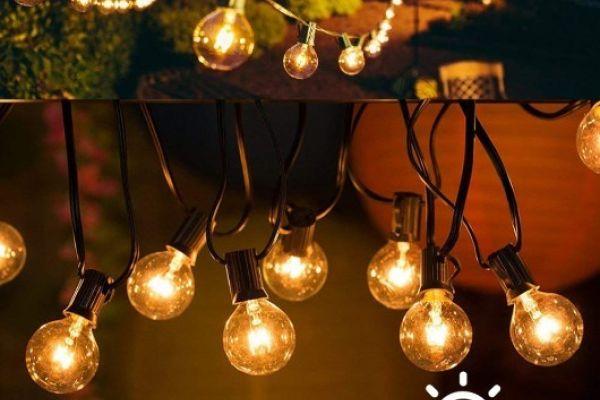 NEU G40 Lichterkette Außen Strombetrieben 25er+3er