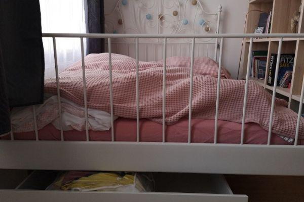 Bett inkl. Matratze und Lattenrost