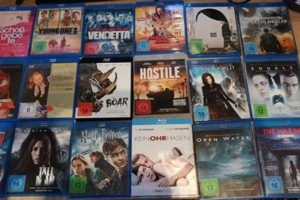 Filmkonvolut Bluray und DVD Filme