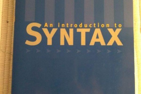 An introduction to syntax - R D van Valin Jr (20€)