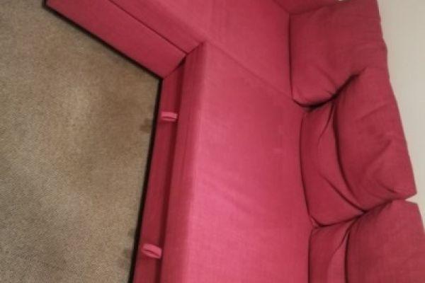 Ecksofa in Pink