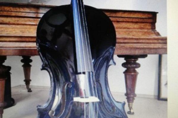 Schwarz lackiertes Cello NEU