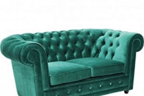 Le Chic Oxford KARE Design Sofa, 2 Sitzer, Grün