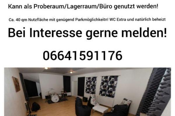 Proberaum/Lagerraum/Büro