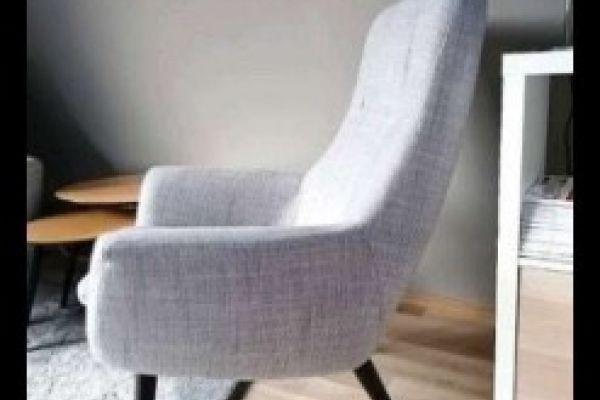 Ikea HEMSTANÄS Sessel mit hoher Rückenlehne grau