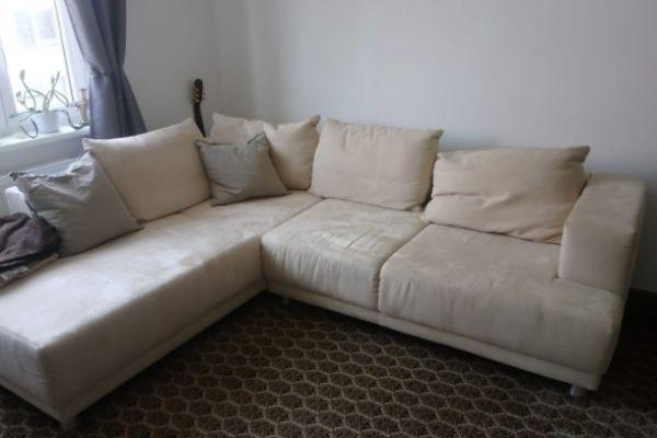 Wunderschöne beige Couch