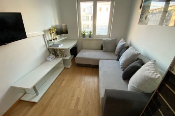 Sofa + Tisch + Regal