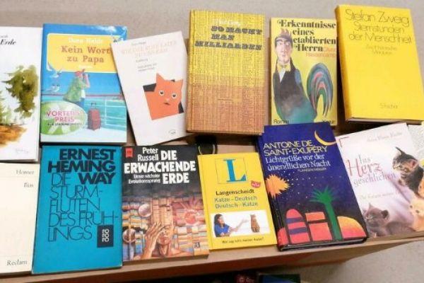 Bücherflohmarkt direkt aus dem Keller raus