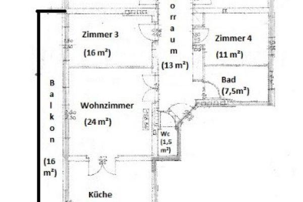 Ein Zimmer in 4er Penthaus WG  (St. Martin)