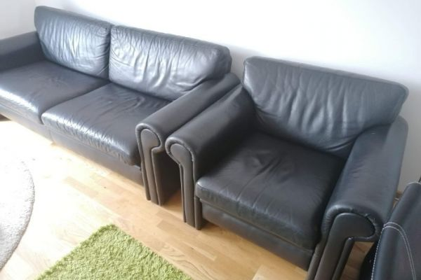 Sofa und Sessel (Leder)