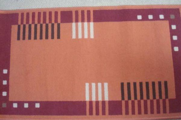 2 Stk.Webteppiche orange 112/64 cm modernes Muster