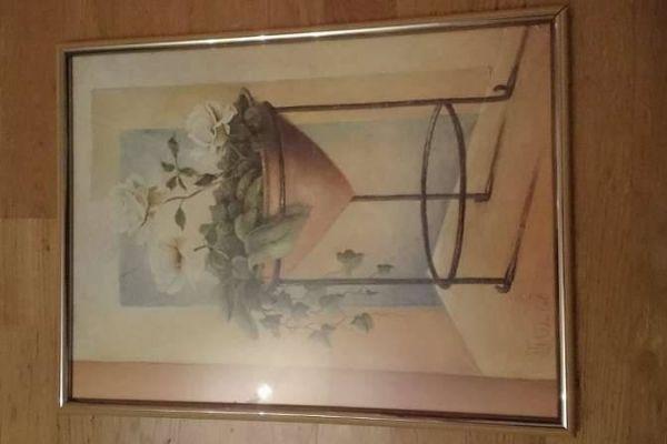 Ludger Thuilot Deco Poster Art Print mit Blumenmotiv  31,5x41.5
