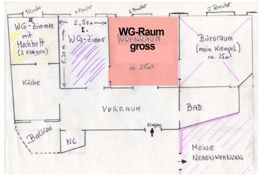 2 WG-Räume in heller zentraler Lage (U6 Josefstädt - Bild 1