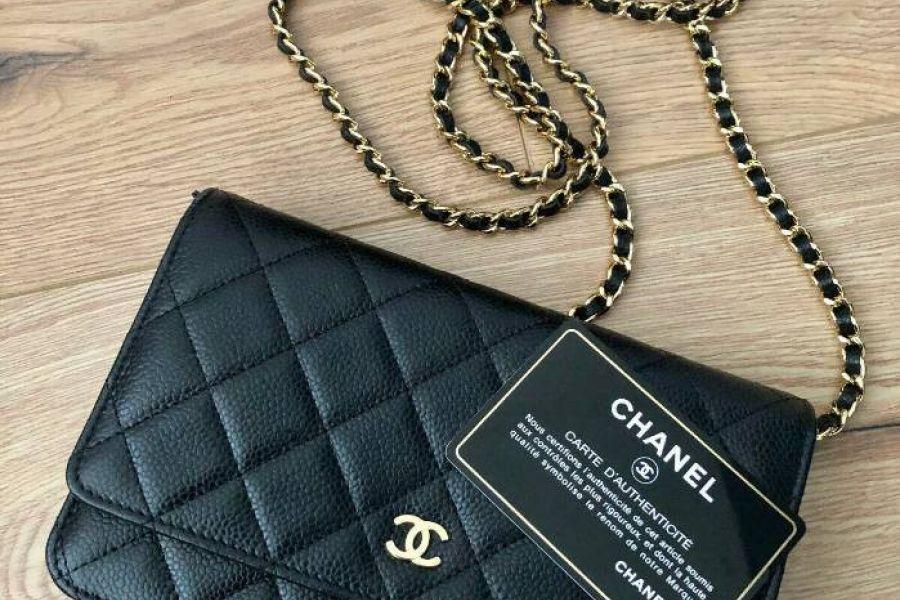 Chanel kleine Tasche schwarzes Leder - Bild 2