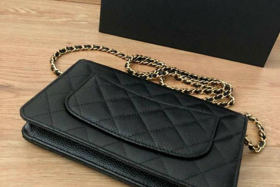 Chanel kleine Tasche schwarzes Leder - Bild 3